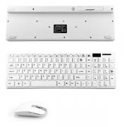 Kit Teclado Mouse Wireless Conexão Sem Fio Ergonômico