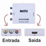Mini Conversor Adaptador Av2hdmi Av Para Hdmi Rca - Full Hd