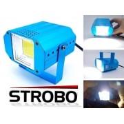 Mini Strobo Laser Led Efeito Flash Jogo Luz Branca Xênon 20w
