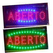Placa Quadro Led Letreiro Luminoso Painel Aberto 48x25cm 220v LK-G2548