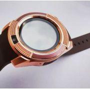 Relogio SmartWatch Inteligente V8 Bluetooth - Dourado