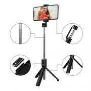 Tripé Bastão de Selfie Celular Com Controle Bluetooth P50