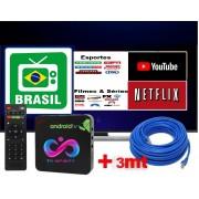 TV Box Infinity Play 4k Mais de 460CH Livres