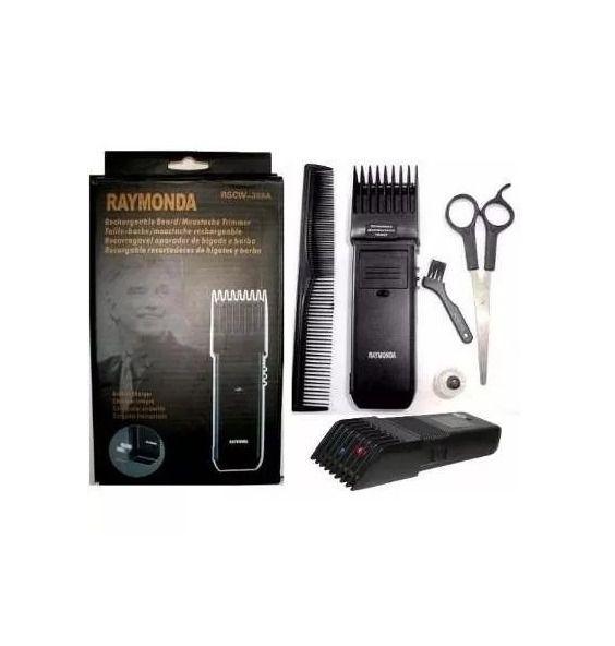 Barbeador elétrico pente regulável e tesoura RM-389B