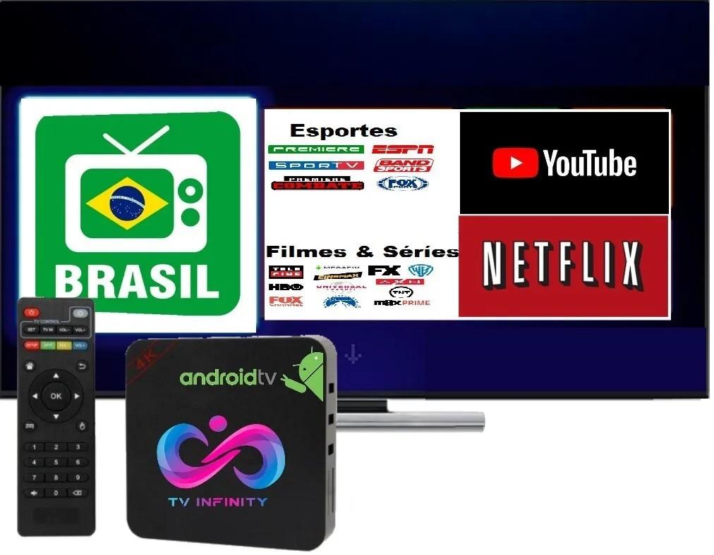 Aparelho 4K Converte TV Comum em SMART Mais de 460CH Livres