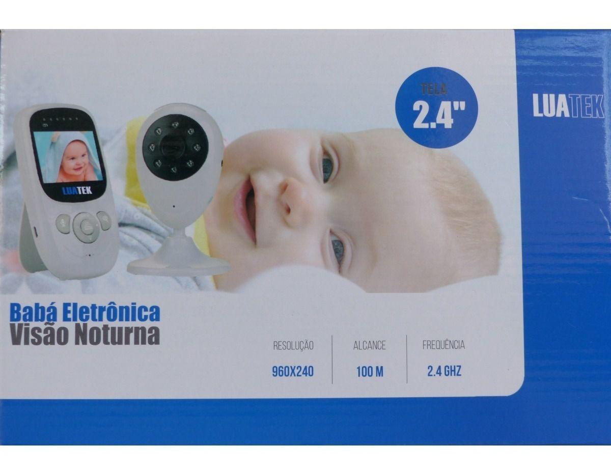 """Babá Eletrônica Sem Fio com Visão Noturna 200mt tela LCD 2.4"""""""