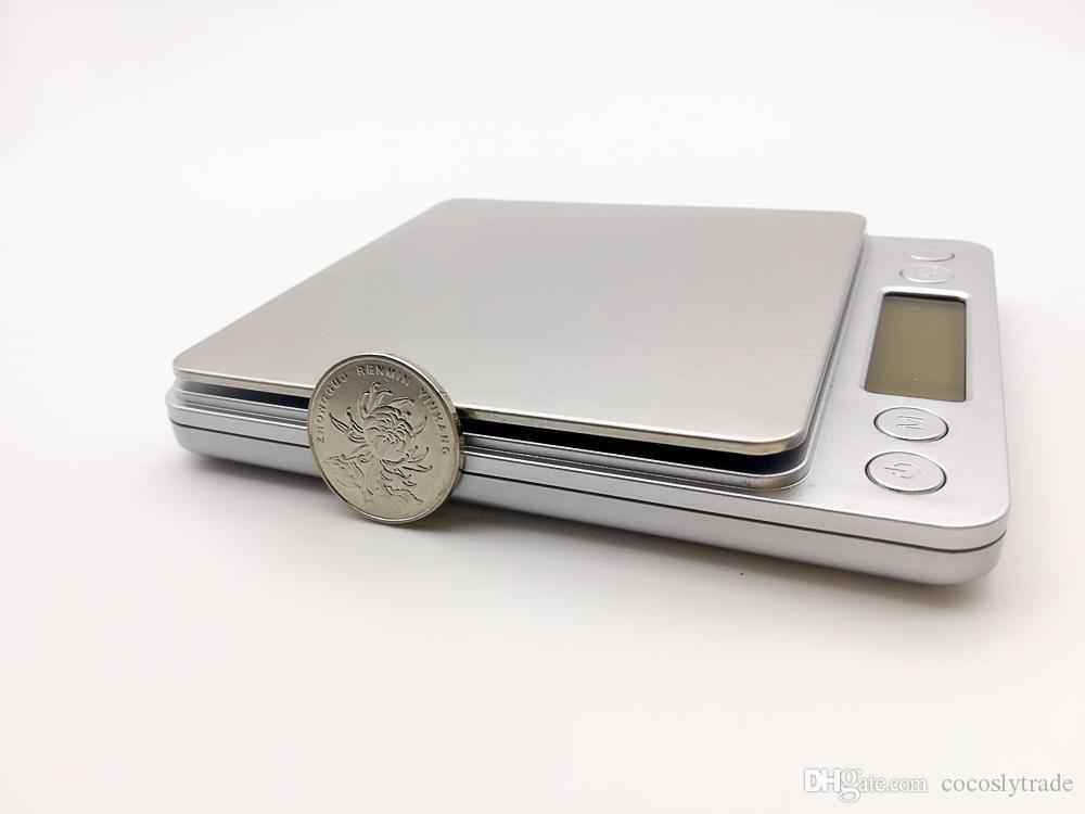 Balança Digital de 1g a 2kg Com 2 bandejas de Acrílico