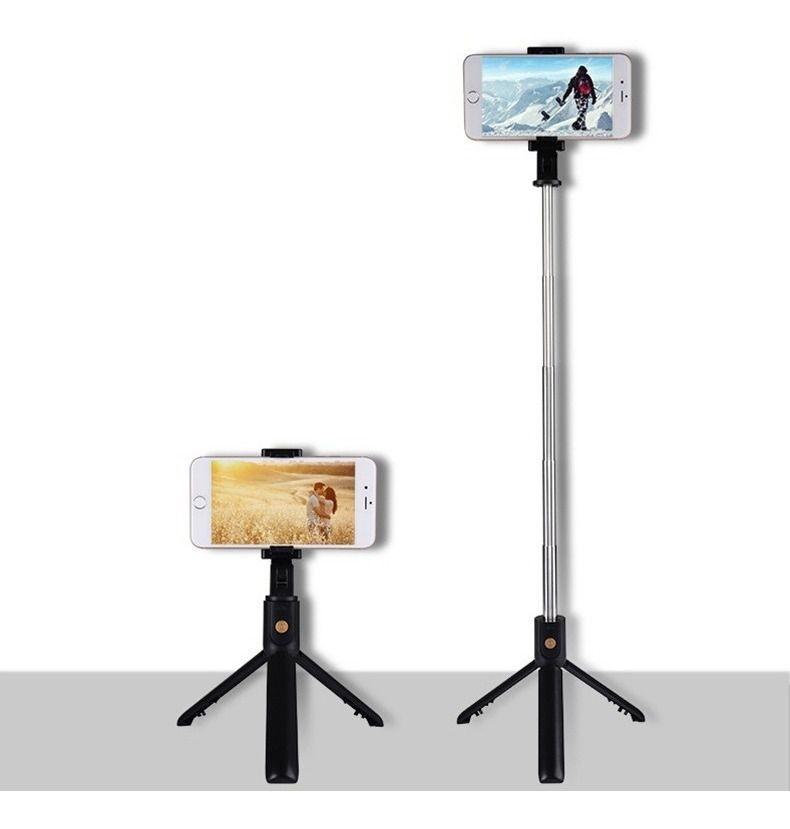 Bastão De Selfie Tripé C/ Bluetooth Para Celular Mzp-110