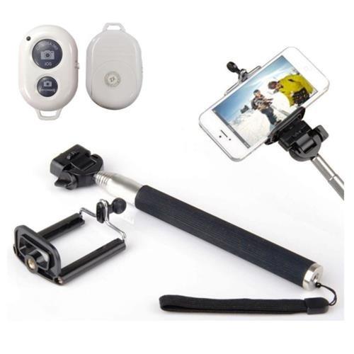 Bastão Selfie Rod com Bluetooth Wireless Remoto Color