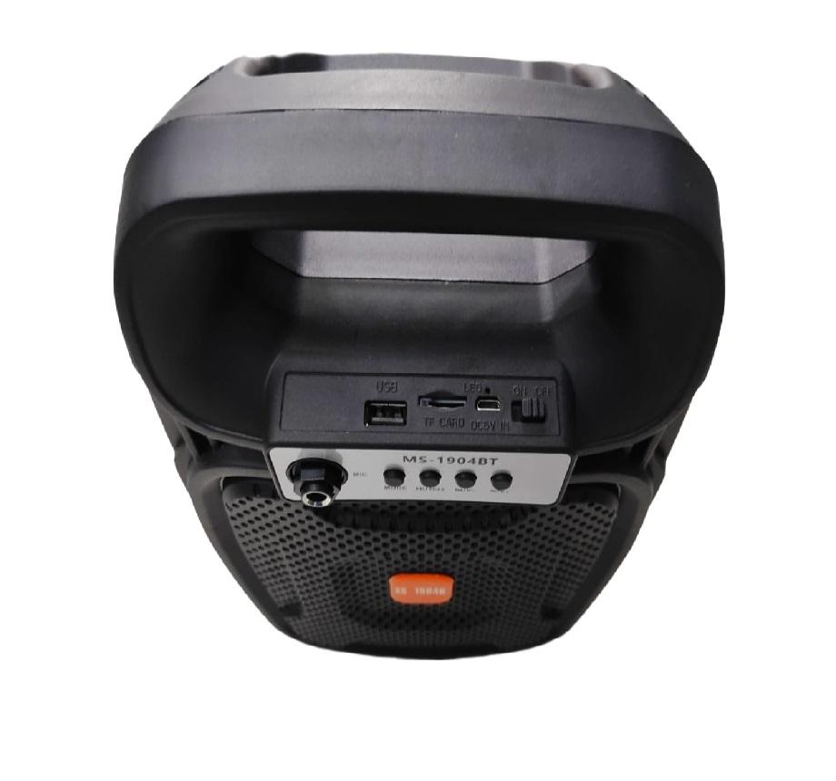 Caixa de Som Bluetooth MS-1904BT Com FM e Entrada Para Microfone