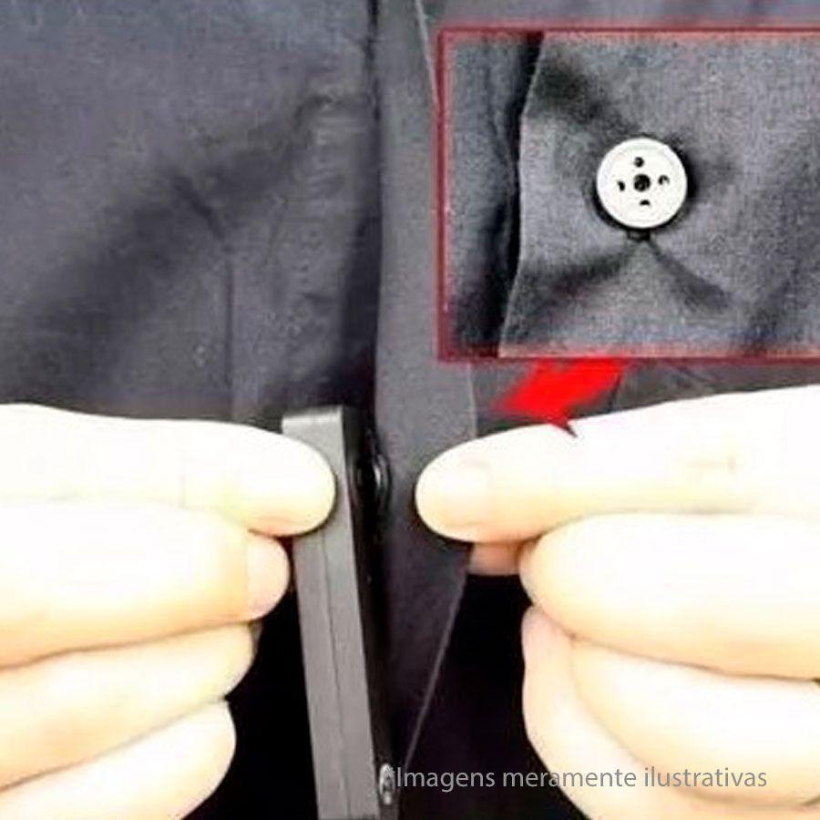 Câmera Espiã Botão 007 Filma e Tira Fotos Direto no Cartão
