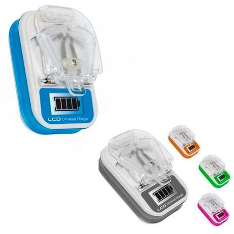 Carregador Universal com USB Para Baterias De Celular E Câmeras Lcd e etc