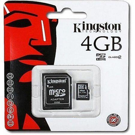 Cartão De Memoria Classe 10 Kingston Sdc4/4Gb Micro Sdhc 4Gb Com Adaptador Sd
