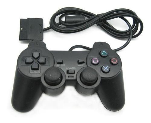 Controle Compatível Playstation 2 Play 2 Ps2 Vibratório Com Fio