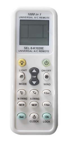 Controle Remoto Universal Para Ar Condicionado Split Funciona Todas as Marcas