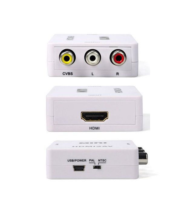 Conversor de vídeo HD 1080p HDMI para AV com 3 conectores RCA