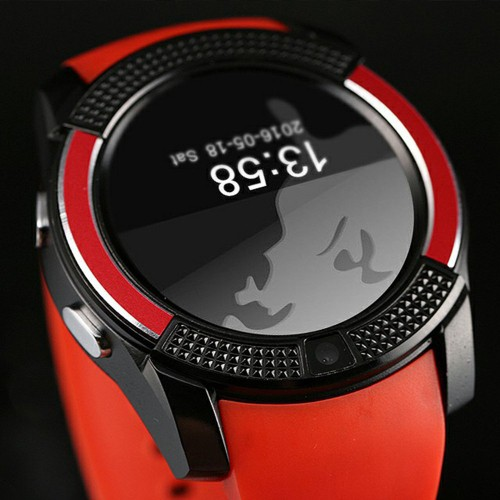 Relógio SmartWatch Inteligente V8 Bluetooth -Vermelho