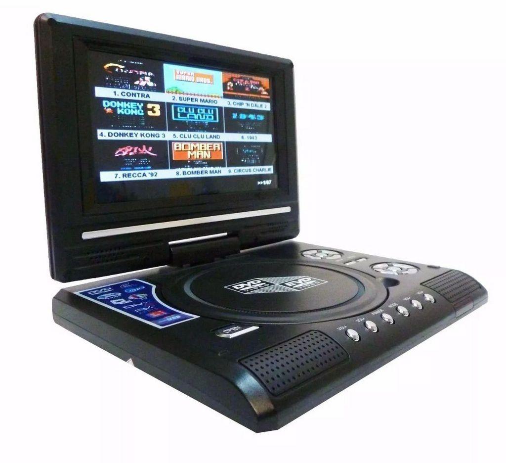 Mini TV Digital e Dvd Portátil Joystick Game