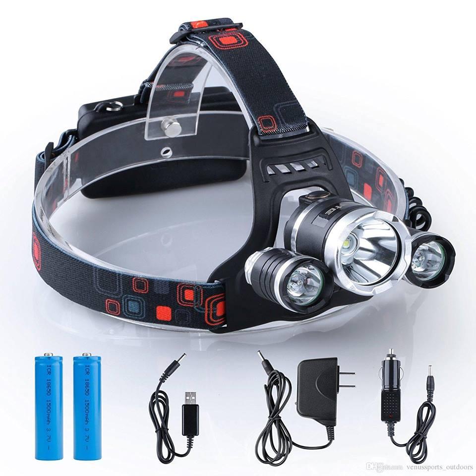 Farol de Cabeça Faróis potentes para Cabeça Lâmpadas de LED