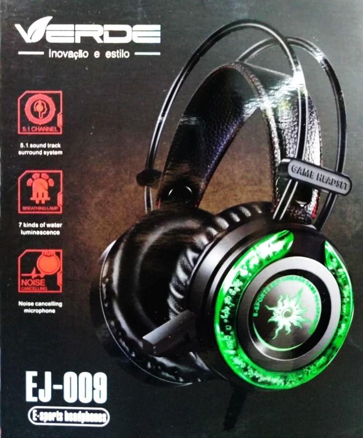 Fone de Ouvido Headphone E-sports c/ Luz (EJ-009)