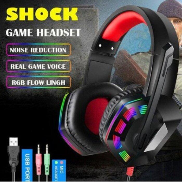 Fone De Ouvido Headset Gamer 7.1 AS-70 Microfone Controle Profissional Jogo Pc Note
