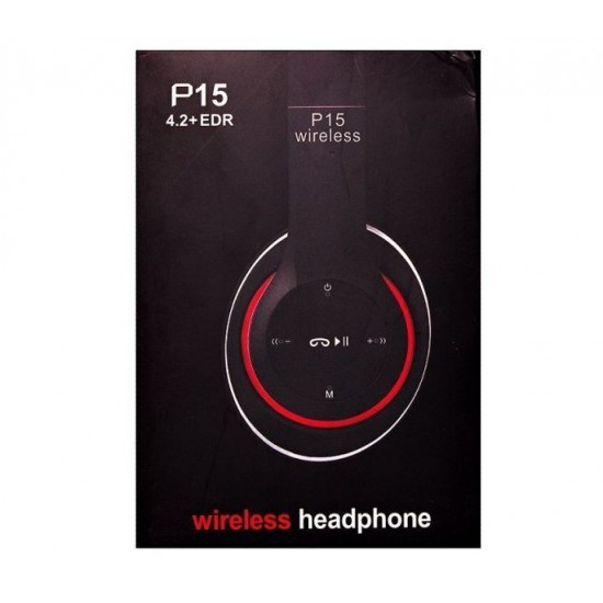 Fone Headphone Bluetooth Wireless Sem Fio P15 P2 Sd Fm Aux