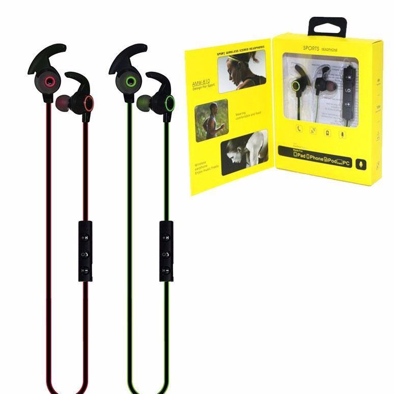 Fones De Ouvido Bluetooth Esporte AMW-810