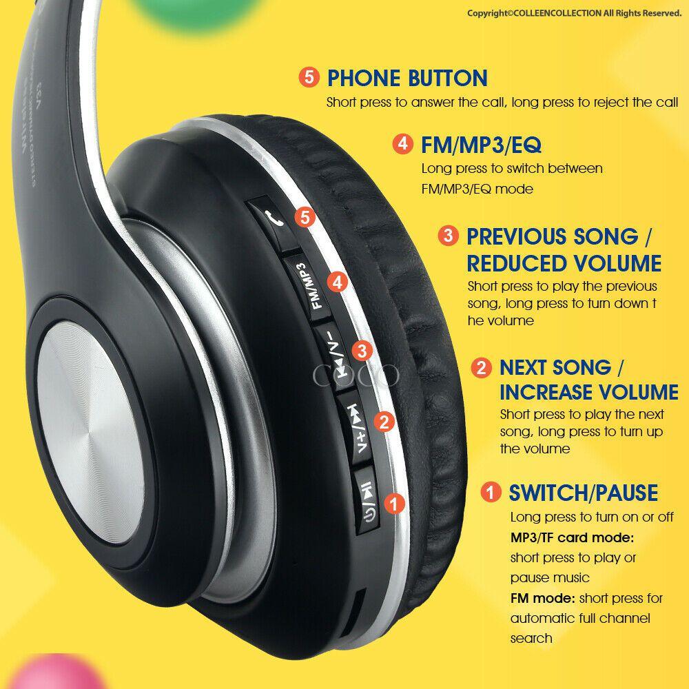 Fones De Ouvido Sem Fio Bluetooth JB-V33 Potencia e Qualidade Preto