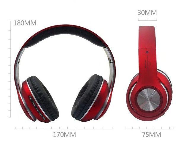 Fones De Ouvido Sem Fio Bluetooth JB-V33 Potencia e Qualidade  Vermelho