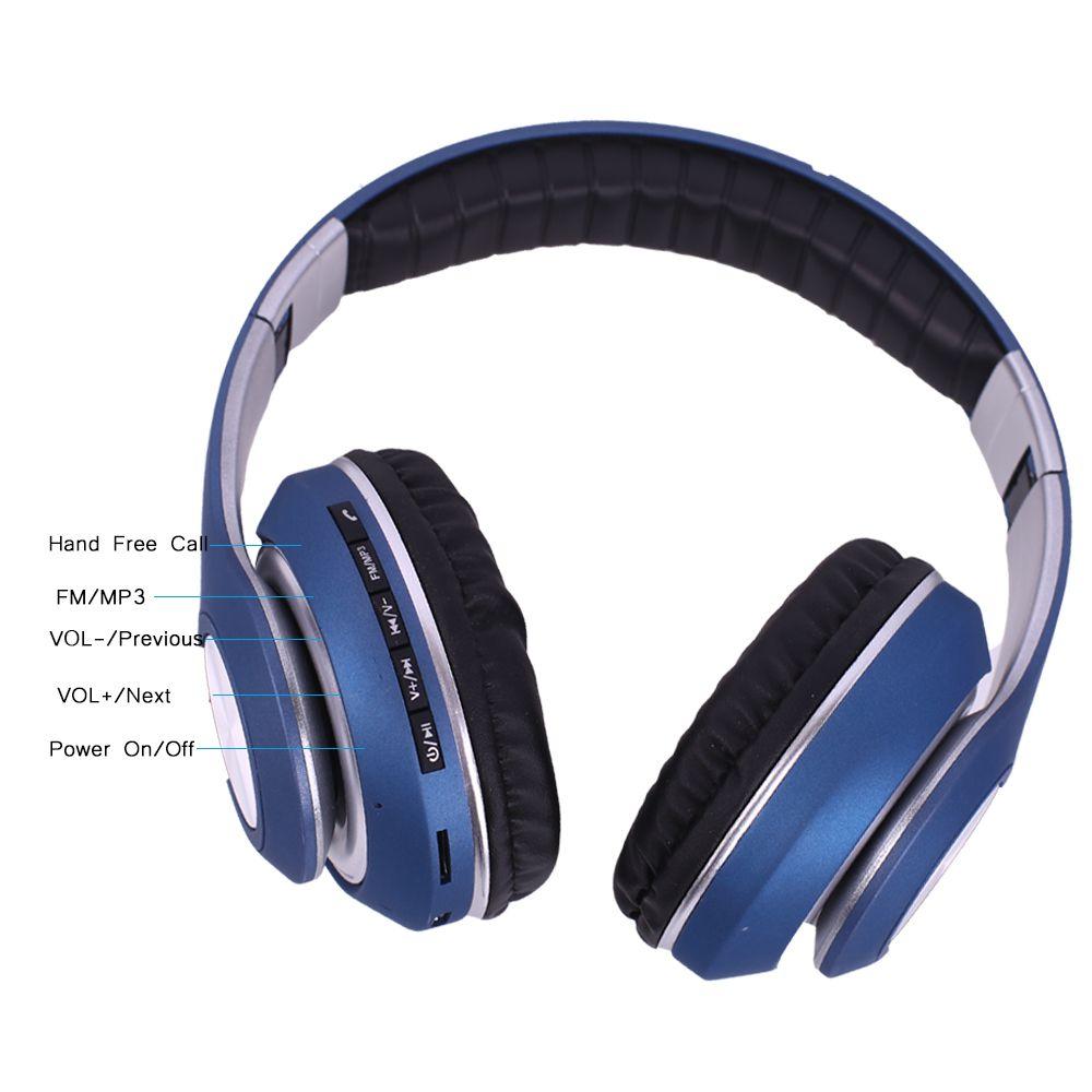 Fones De Ouvido Sem Fio Bluetooth  JB-V33 Potência e Qualidade  Azul