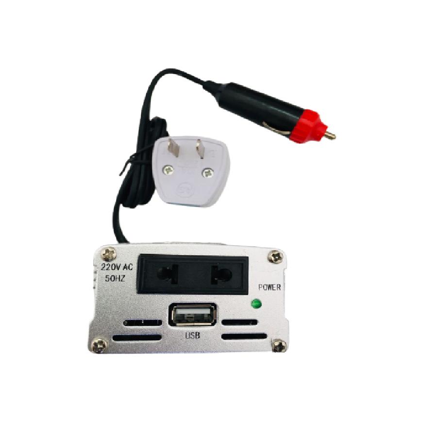 Inversor Tensão 300w 12v Para 220v Veicular Transformador Conversor Com Tomada Padrão e Usb