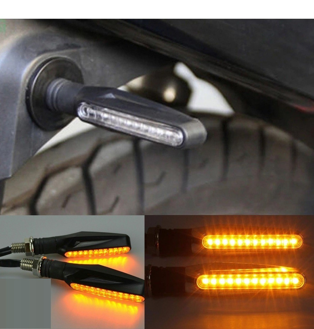 kit 4 Setas Pisca de Led Universal Para Motos
