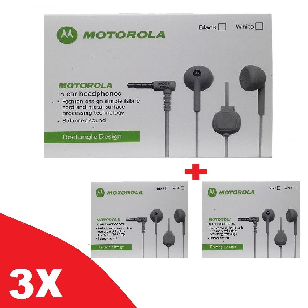 Kit Com 3 Fones De Ouvido Moto In Ear Headphones Rectangle Designit