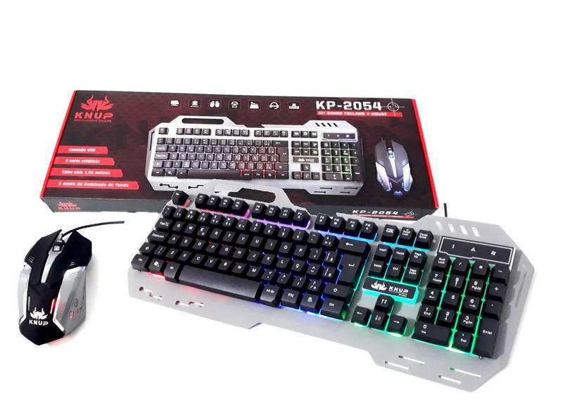 Kit Teclado Gamer Knup KP-2054