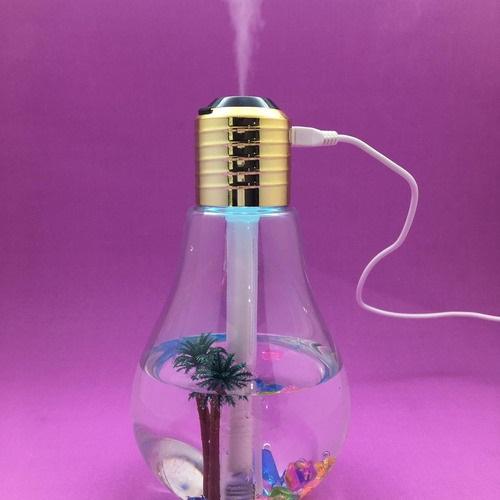 Lâmpada Umidificador Climatizador Aromatizador De Ar Luz Led
