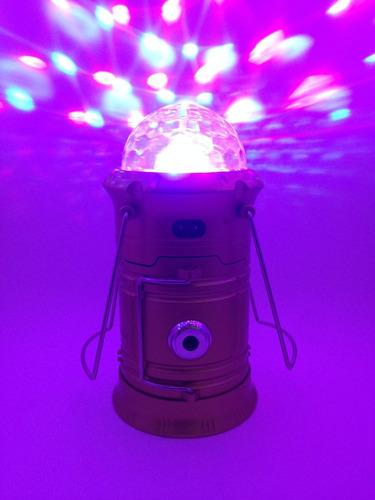 Lampião Solar com Mini Globo Giratório