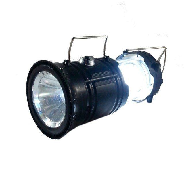 Lampião Solar Lanterna Led Recarregável Lamparina Sh-5800t