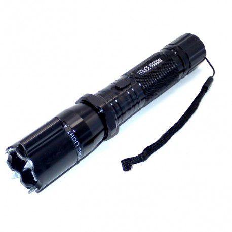 Lanterna Autodefesa 3 em 1 Iluminação Proteção alto brilho Lanterna Laser e Choque