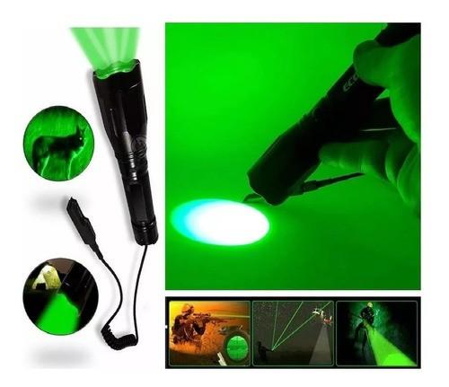 Lanterna de Luz Verde Resistente á água LT-410