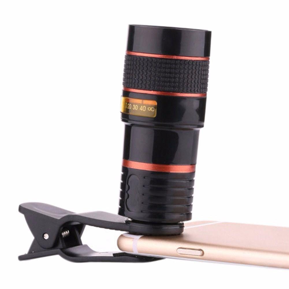 Lente telescópio zoom objetiva para smartphone