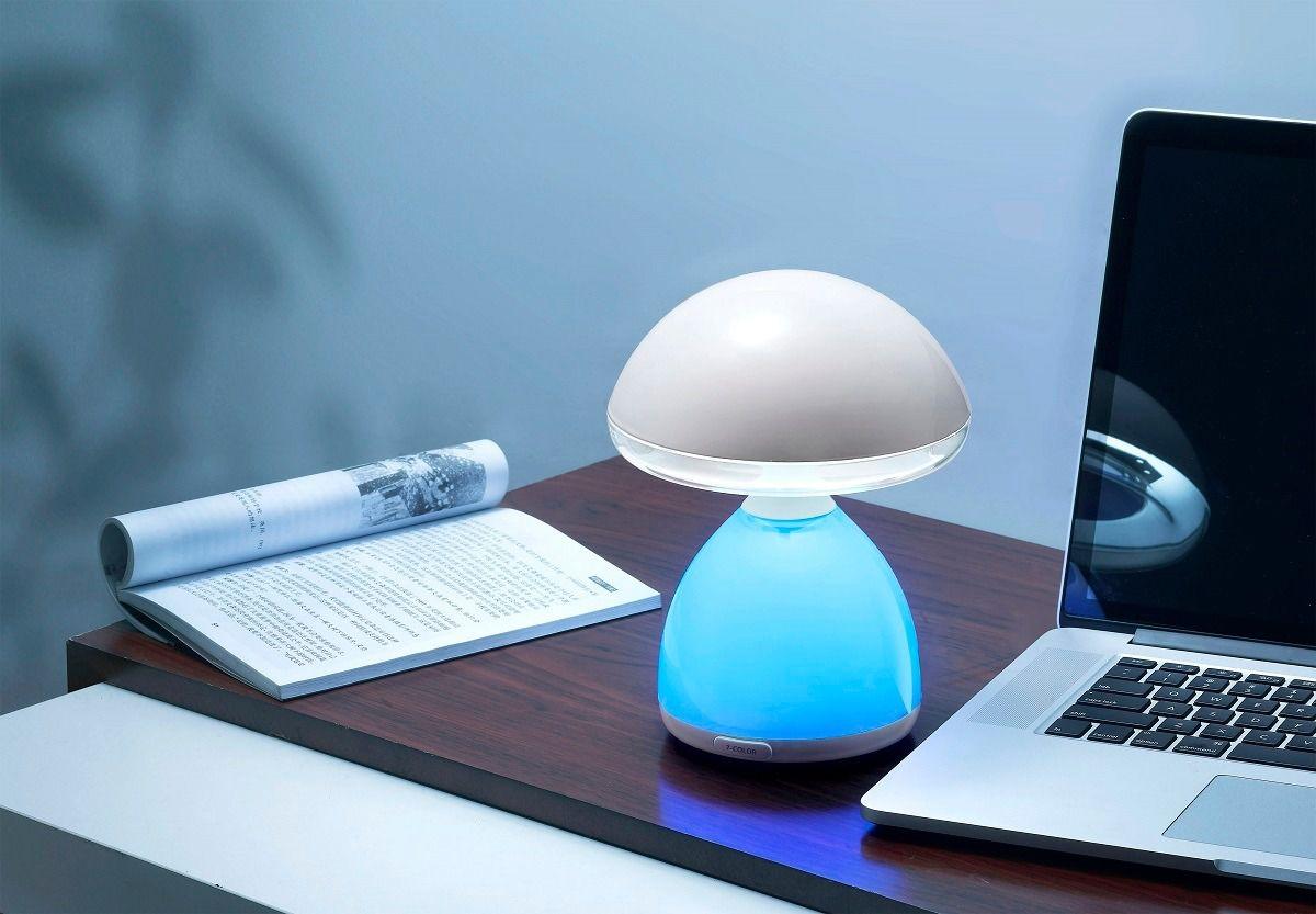 Luminária Cogumelo Lâmpada LED Cromoterapia 7 Cores sem fio
