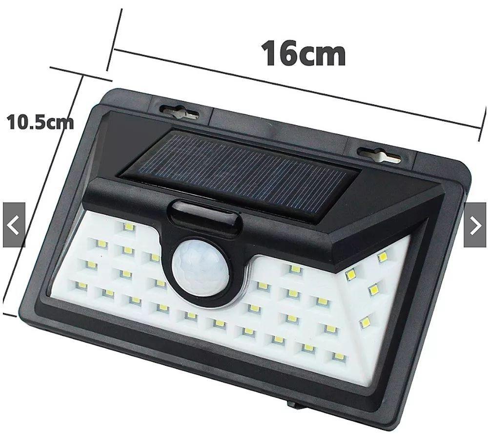 Luminária Solar 32 Leds 5w Com Sensor Movimento Efraim Shop