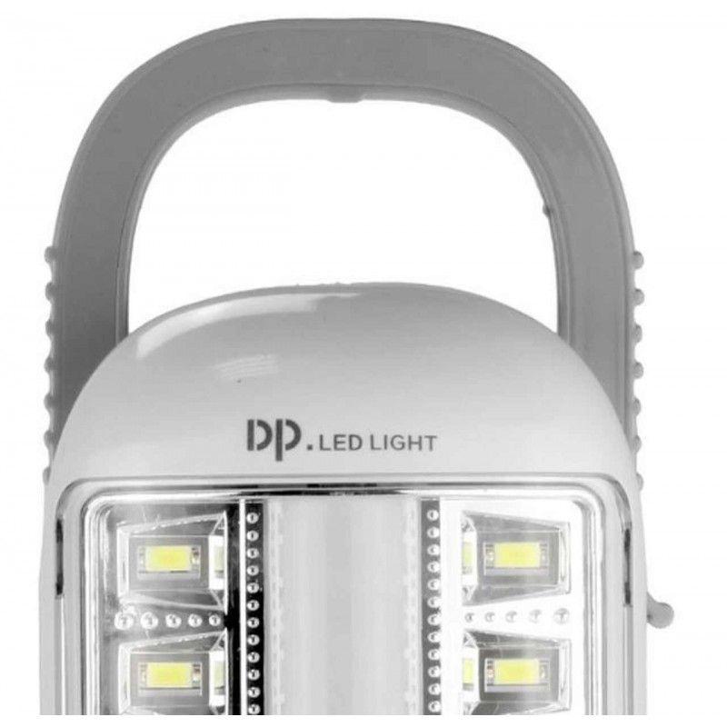 Luz Emergencia Led Smd Dupla Função 6w 2600mah 40 Led Bivolt