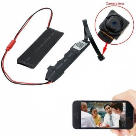 Micro Câmera HD Espiã Wireless IP Wifi Ao Vivo Celular IP66