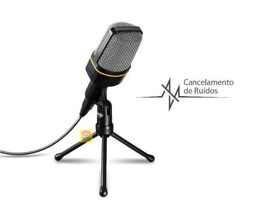 Microfone Condensador Multimídia Com Tripé Knup Kp-913