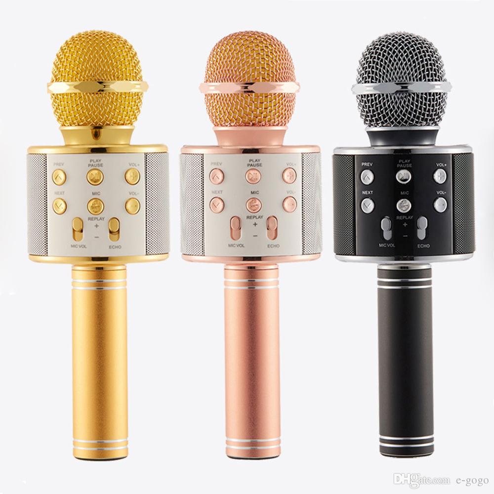 Microfone Portátil De Karaokê Sem Fio Ws-858 Portátil