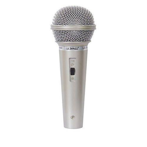 Microfone Prata Com Fio Profissional Dinamico MO-701