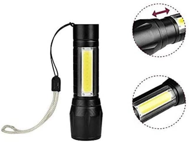 Mini Lanterna com luz lateral recarregável WA-49
