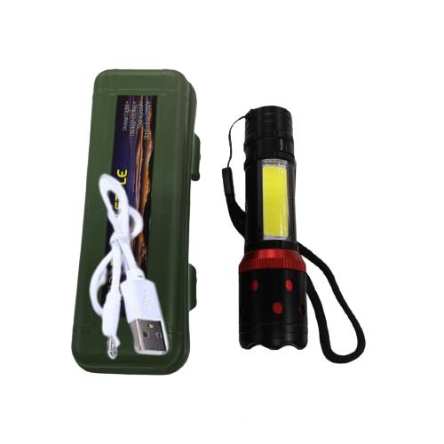Mini Lanterna Recarregável PM potente com função alerta PM-014