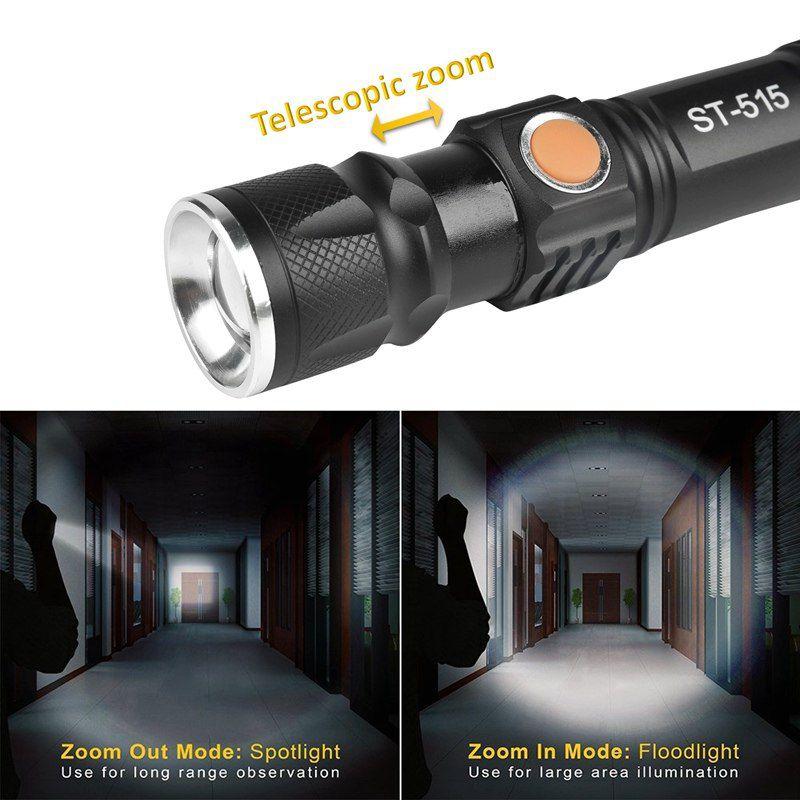 Mini Lanterna Tática 3 Modos de Luz